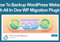 How to backup wordpress website with All in One WP Migration Plugin