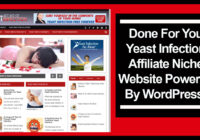 Yeast Infection Affiliate Niche Website