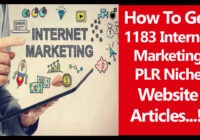 internet marketing plr articles