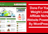 Weight loss affiliate niche website