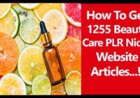 beauty care plr articles