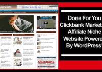 Clickbank Marketing Affiliate Niche Website
