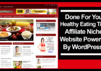 healthy eating tips affiliate niche website