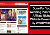 wedding planning affiliate niche website