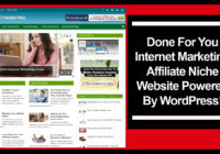 Internet Marketing Affiliate Niche Website