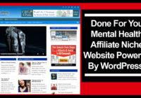 mental health affiliate niche website