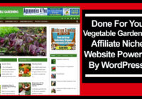 vegetable gardening affiliate niche website