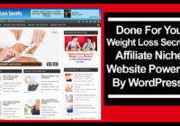 Weight loss secrets affiliate niche website