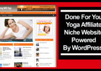 yoga affiliate niche website