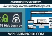 How To Change WordPress Default Login URL With WPS Hide Login WP Plugin Tutorial (Step-By-Step)