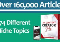 WordPress Plugin Content Creation Software (474 Different Niche Topics With 160,000 Articles)